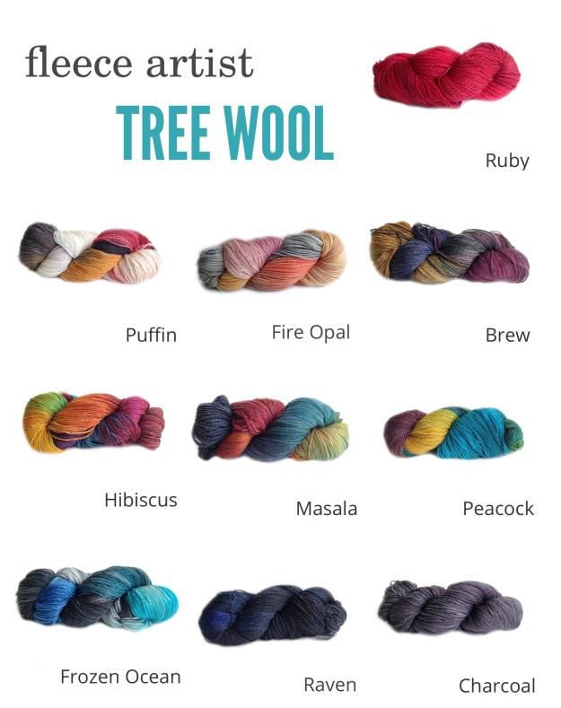 fleece artist tree wool MULTI 2