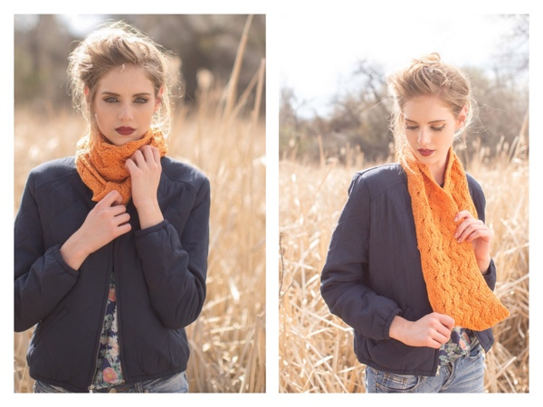 knitscene 2015 fall yellow cowl
