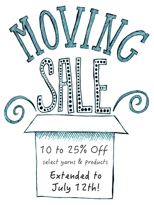 """hand lettered """"moving sale"""" with box. raster illustration"""