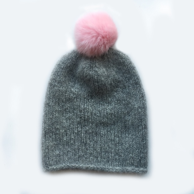 Berroco North Star hat pink pompom BLOG 1