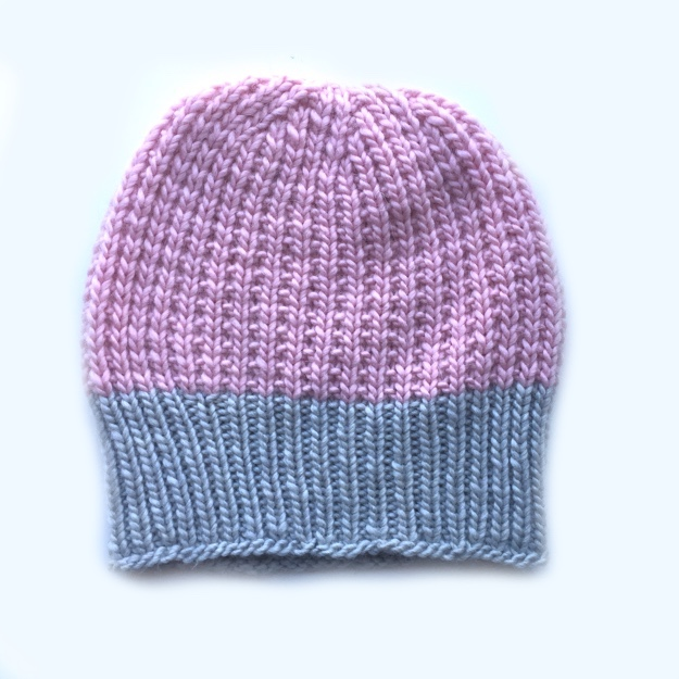 Rowan Cocoon Hat Pink BLOG 1