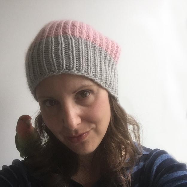 Rowan Cocoon Hat Pink BLOG 2