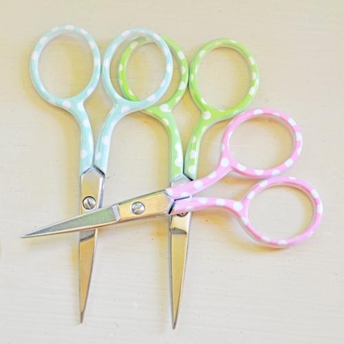 Scissors embroidery polka dot 2