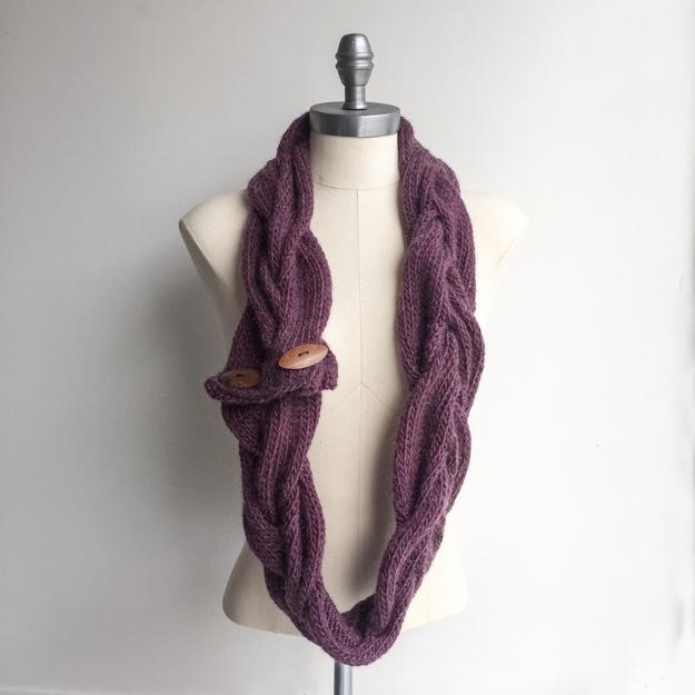 Rowan Cocoon cable braid cowl 1
