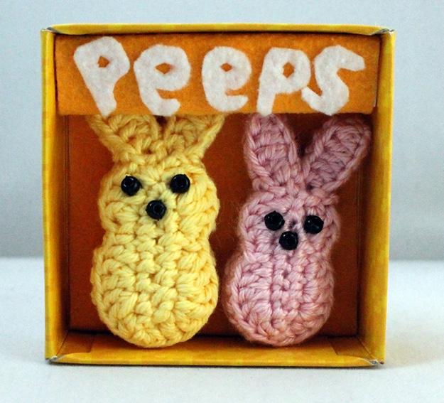 Easter peeps in box