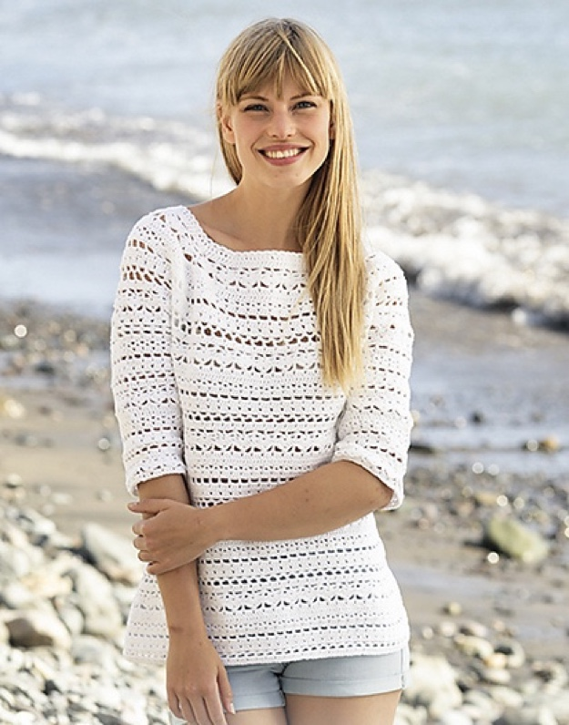 Drops Crochet Pullover