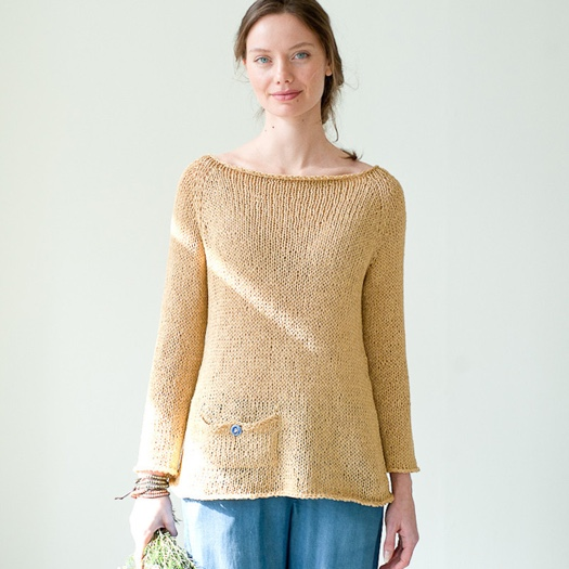 Quince and Co Kestrel PATTERN daicey pullover