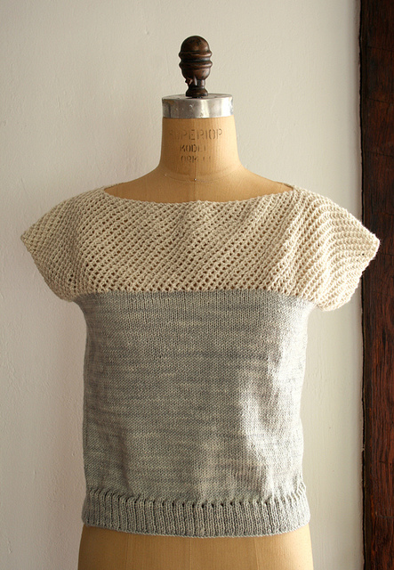 Cap Sleeve Lattice Top 1