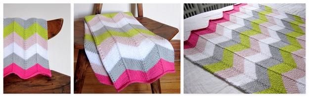 chevron baby blanket COMBO