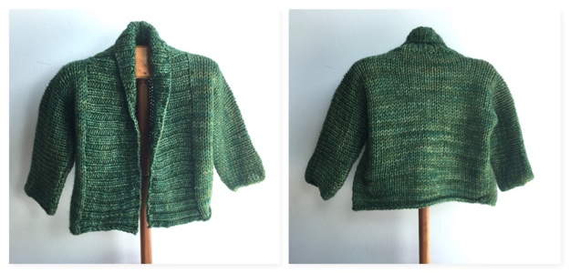 Debbie Bliss Baby Jacket Green COMBO 1