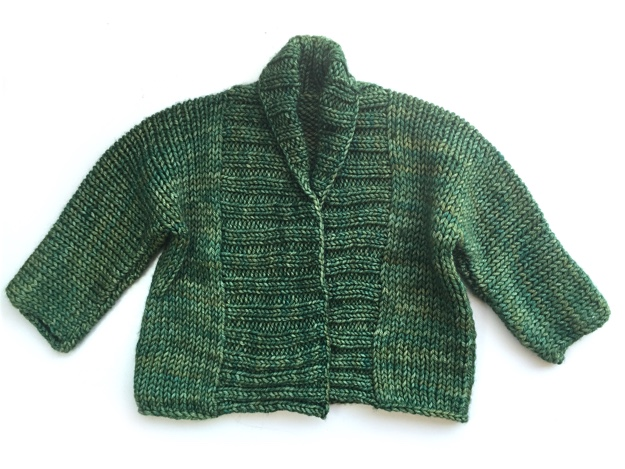 Debbie Bliss Baby Jacket Green Malabrigo Rios