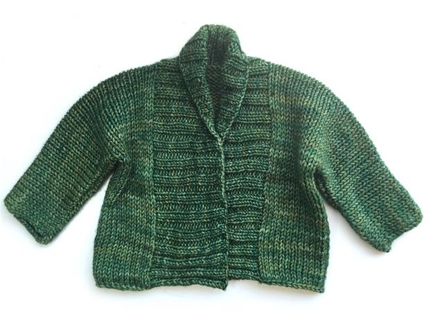 Debbie Bliss Baby Jacket Green Malabrigo Rios