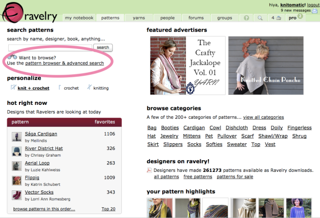 Hack Search Ravelry Patterns 2