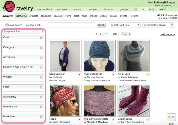 Hack Search Ravelry Patterns 3
