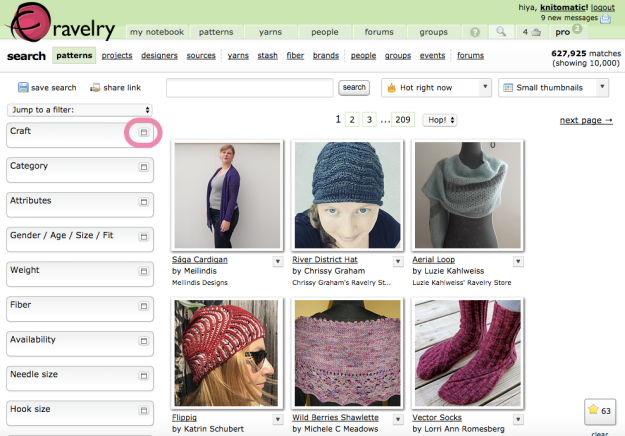 Hack Search Ravelry Patterns 4