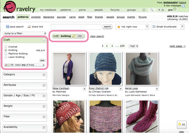 Hack Search Ravelry Patterns 6