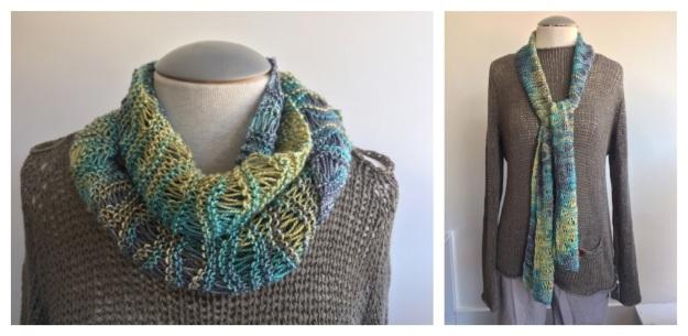 handmaiden silken wavy scarf COMBO