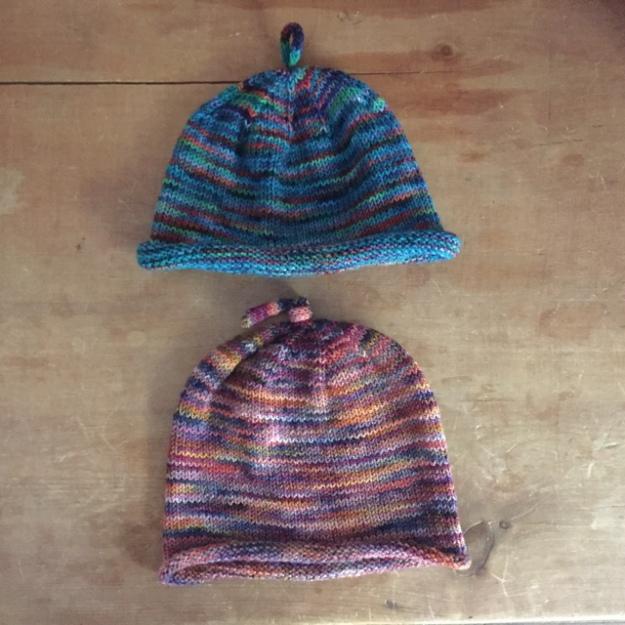 Koigu KPPPM Baby Hat Blocking