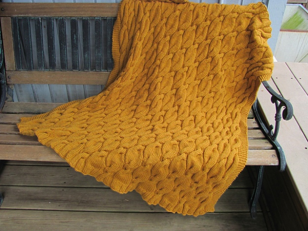 Berroco VIntage Chunky Cabled Throw 3