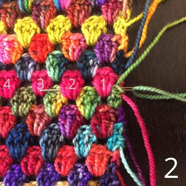 Granny Spripe Blanket Weaving In Ends 2