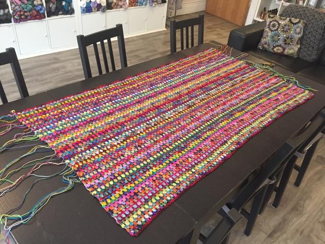 Granny Stripe blanket Aug 17
