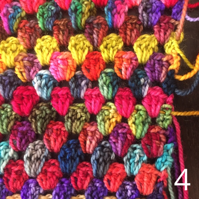 Granny Stripe Blanket Weaving In Ends 4