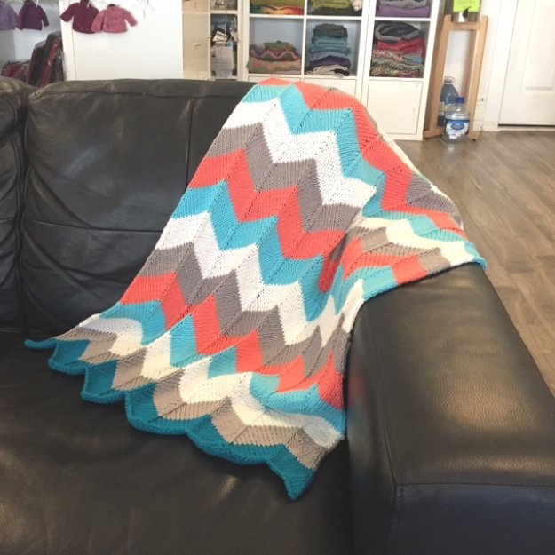Avalon Chevron baby blanket 1