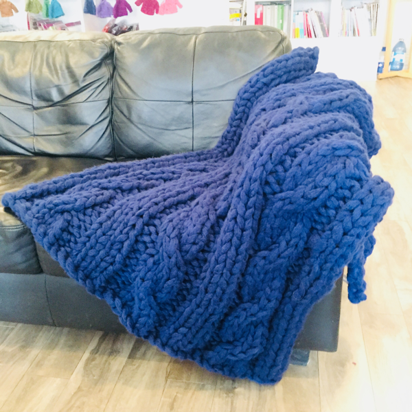 Premier Cable Blanket Navy