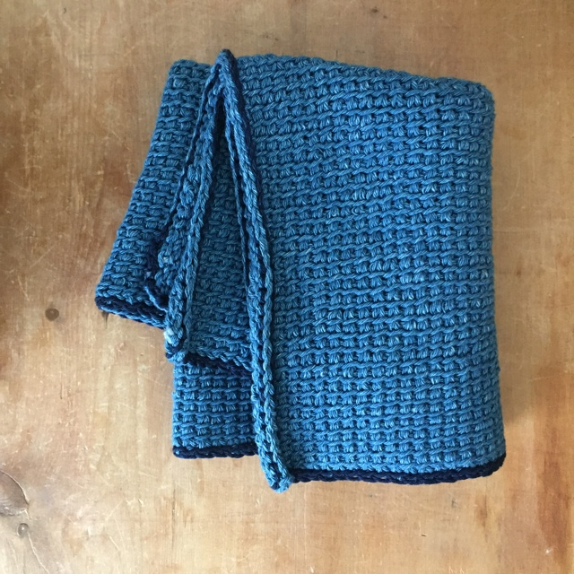 Rowan Denim Tunisian Hand Towel