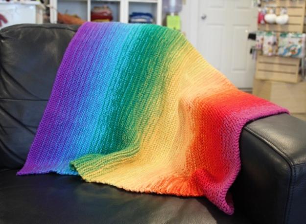 Ombre Baby Blanket 1