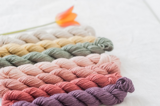 Quince and Company Kestrel yarn for knitting and crochet. 100% organic linen from Italy.